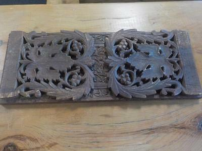 Victorian Carved Oak Folding Sliding Book Stand Floral Design