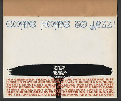 1960 HERB LUBALIN COME HOME TO JAZZ About U.S. Experimental Typography Pub. No.1