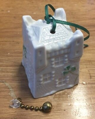 Belleek fine parian china hanging ornament / bell Castle 7th Ed