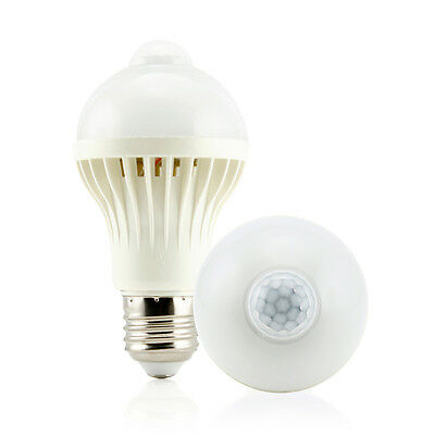 E27 5W Motion Sensor LED Bulb Auto PIR Motion Detection Home Lighting Lamp New