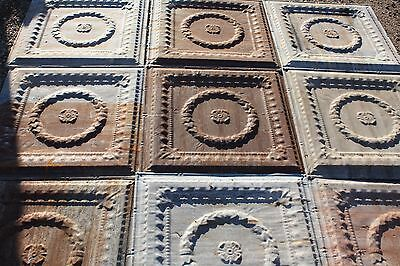 Antique Pressed Tin Ceiling (5 pieces) ***Free Ship*** As Seen On Fixer Upper