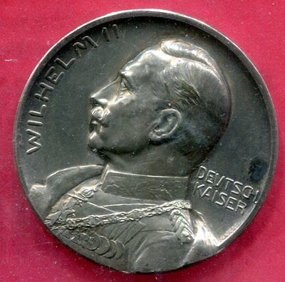 1913 Germany - 25th Ann. of the Reign of Kaiser Wilhelm II Silver Medal  - WM