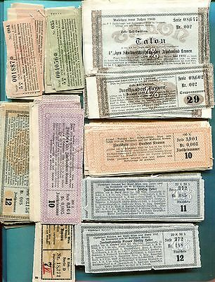 Ca.1920 Austria 200+ Bond Coupons