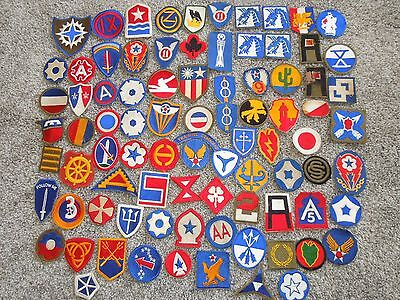 HUGE Collection Lot of WWII Army AAF Patches Insignia over 85+ Pieces