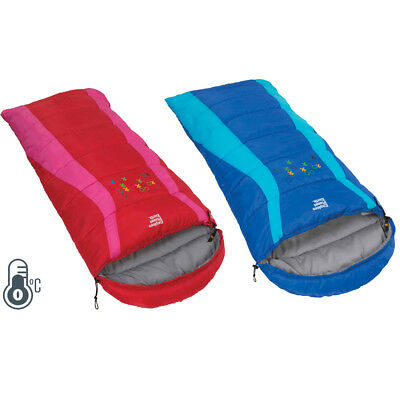 Explore Planet Earth Buckley Kids 0°C Camping Sleeping Bag - Blue Or Red