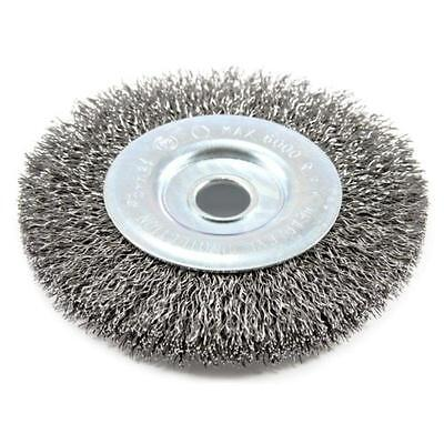 "4"" X .012"" Coarse Crimped Wire Wheel Brush With 1/2"" Arbor Forney 72742"