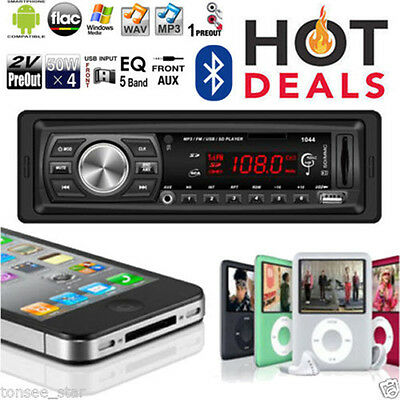 Car Radio Stereo Media Player Bluetooth Head Unit AUX USB RDS MP3/SD/MMC NO CD