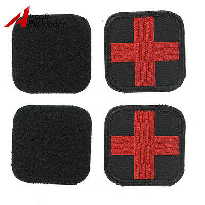 2pcs Medic Red Cross Hook side Embroidered Patch EMT First Aid Patch Armband