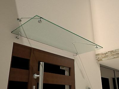 Glass Canopy 150x90 cm Front door roof Clear VSG 12 mm