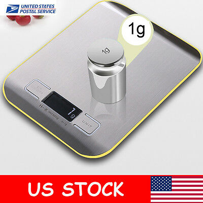 11lbs/5kg Digital Electronic LCD Kitchen Food Diet Postal Scale Weight Balance