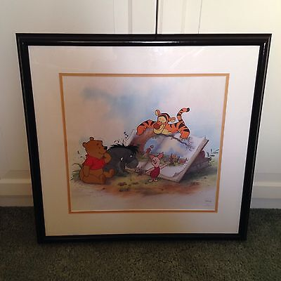 RARE Winnie the Pooh and Storytime Too Disney Limited Edition Framed Sericel
