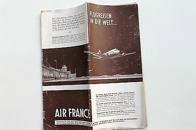 20925 AIR FRANCE Flugplan Time Table Flugplan 1952 Horaires Horarios