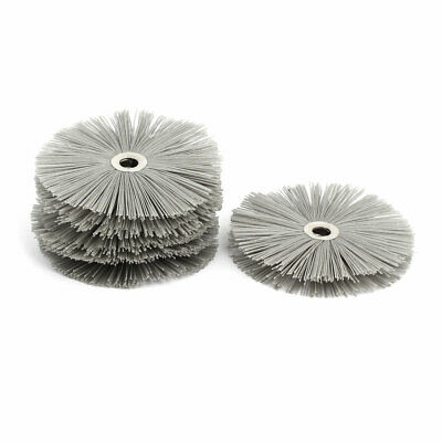 600 Grit Abrasive Nylon Wire Brushes Woodworking Polishing Grinding Wheels 5pcs