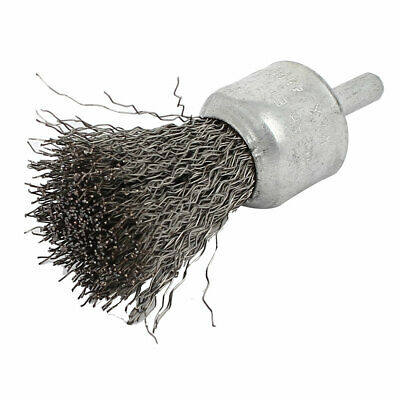6mm Shank Stainless Steel Pen Design Crimped Wire End Brush Polishing Tool
