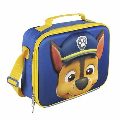 Children Kids Paw Patrol 3D Effect Insulated Blue Lunch Bag