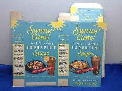 Vintage Sunny Cane Instant Superfine Sugar 1 Lb Box Unused