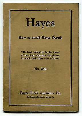 """Vintage """"Hayes Track"""" Railroad Publication: """"HOW TO INSTALL HAYES DERAILS"""""""