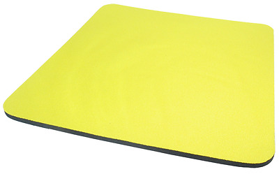 Yellow Fabric Mouse Mat Pad High Quality 5mm Thick Non Slip Foam 25cm x 22cm