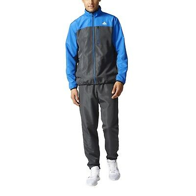 5f3bb38b83d128 adidas Performance Herren Trainingsanzug Tentro Woven Tracksuit dark grey  blue