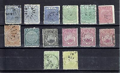 Fiji 1878-1891  14 Stamps  Used & Mint