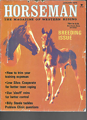 Horseman The Magazine Of Western Riding January 1975 Breeding Issue