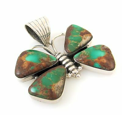 Southwestern Sterling Silver Royston Turquoise Butterfly Pendant DAN DODSON | RS