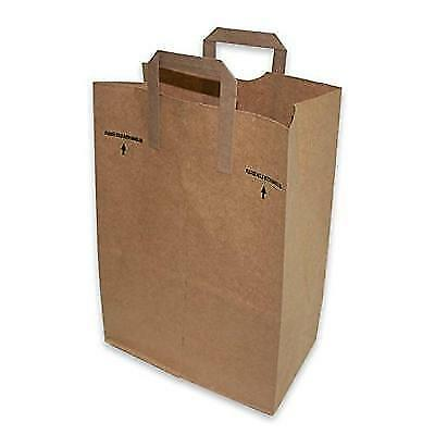 2dayShip Paper Retail Grocery Bags with Handles 12 x 7 x 17 inches, 25 Count New
