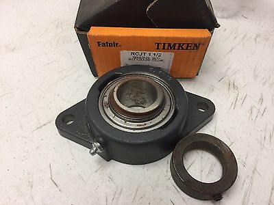 "New Timken Rcjt-1-1/2 Flanged Bearing, 1-1/2"" Bore"