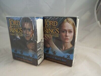 Lord Of The Rings Tcg Battle Of Helm's Deep Pair Of Sealed Starter Decks