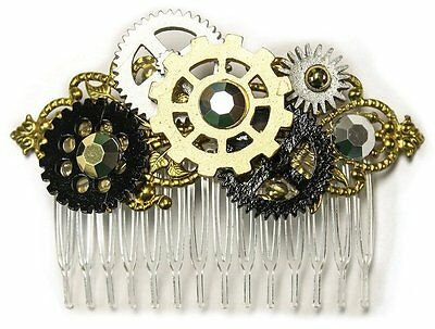 Steampunk Victorian Gear Gears Hair Piece Comb Hairpiece Costume Accessory