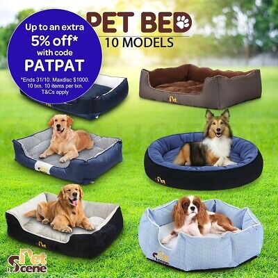 Portable Washable Soft Pet Bed Mattress Deluxe Pad With Blanket & Dog Bone