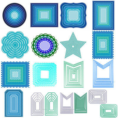 Metal Geometry Cutting Dies Stencil Scrapbooking Embossing Paper DIY Card Decor