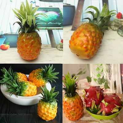 Artificial Pineapple Plastic Fruit Fake Food Home Kitchen Decor Photography Prop