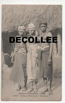 Cpa Afrique Occidentale Guinee 1073 Jeunes Filles Type Soussou Decollee Collecti