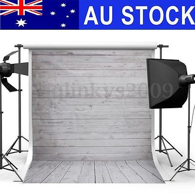 AU 5ftx7ft Wooden Wall Floor Photography Background Photo Backdrop Studio Props