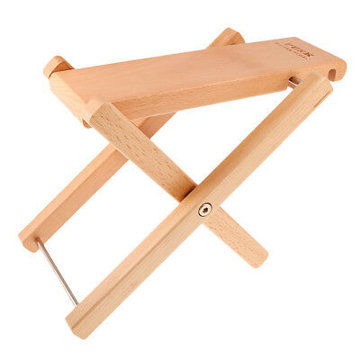 Guitar Guitarist Foot Stool Adjustable Rest Stand Wood