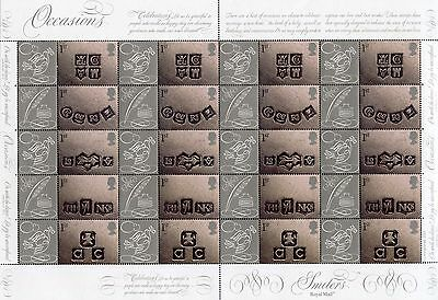 Royal Mail Generic Smiler Sheet - 2001 Occasions (LS4) - Complete sheet