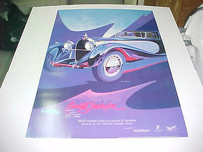 1996 25th Anniversary Barrett-Jackson Auction poster by Tom Hale