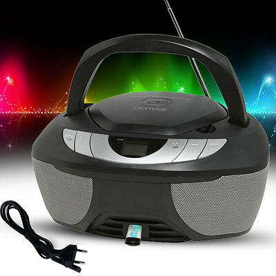 Kinder Zimmer Stereo Anlage CD Player MP3 USB Party Musik Radio Boombox AUX IN