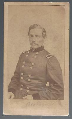 Original Quinby & Co Charleston CDV of PGT Beaurigard Confederate General