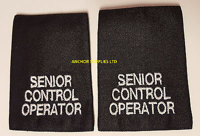 2 Sets x Senior Control Operator Epaulettes Slide On 2 Pairs Supplied (E3)