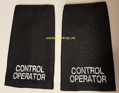 2 Sets x Control Operator Epaulettes Slide On 2 Pairs Supplied (E6)