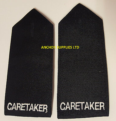 2 Sets x Caretaker Epaulettes Button Down 2 Pairs Supplied Small (E9)