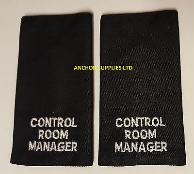 2 Sets x Control Room Manager Epaulettes Slide On 2 Pairs Supplied (E10)