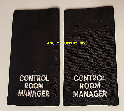 2 Sets x Control Room Manager Epaulettes Slide On 2 Pairs Supplied Small (E11)