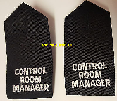 2 Sets x Control Room Manager Epaulettes Button Down 2 Pairs Supplied (E12)