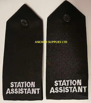 2 Sets x Station Assistant  Epaulettes Button Down 2 Pairs Supplied (E14)