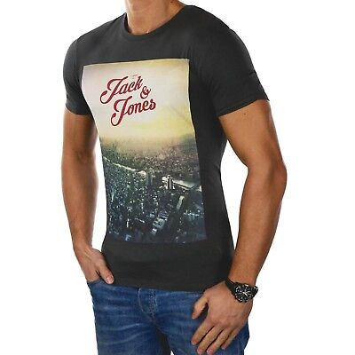 JACK & JONES Herren T-Shirt jorNEWTOWN Kurzarm Hemd O-Neck Foto Slim Fit 2764