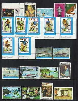 Dominica Qeii M/m Selection Incl Sets