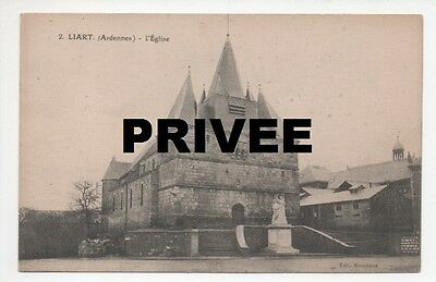 CPA 08 ARDENNES 2 LIART L'EGLISE EDIT MOUCHENE CARTE postale ancienne